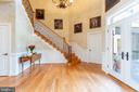 Main staircase to bedroom level - 9110 DARA LN, GREAT FALLS
