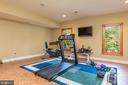 large Workout room with french doors leading out - 9110 DARA LN, GREAT FALLS