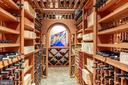 Wine cellar holds 5000 bottles with room for cases - 9110 DARA LN, GREAT FALLS
