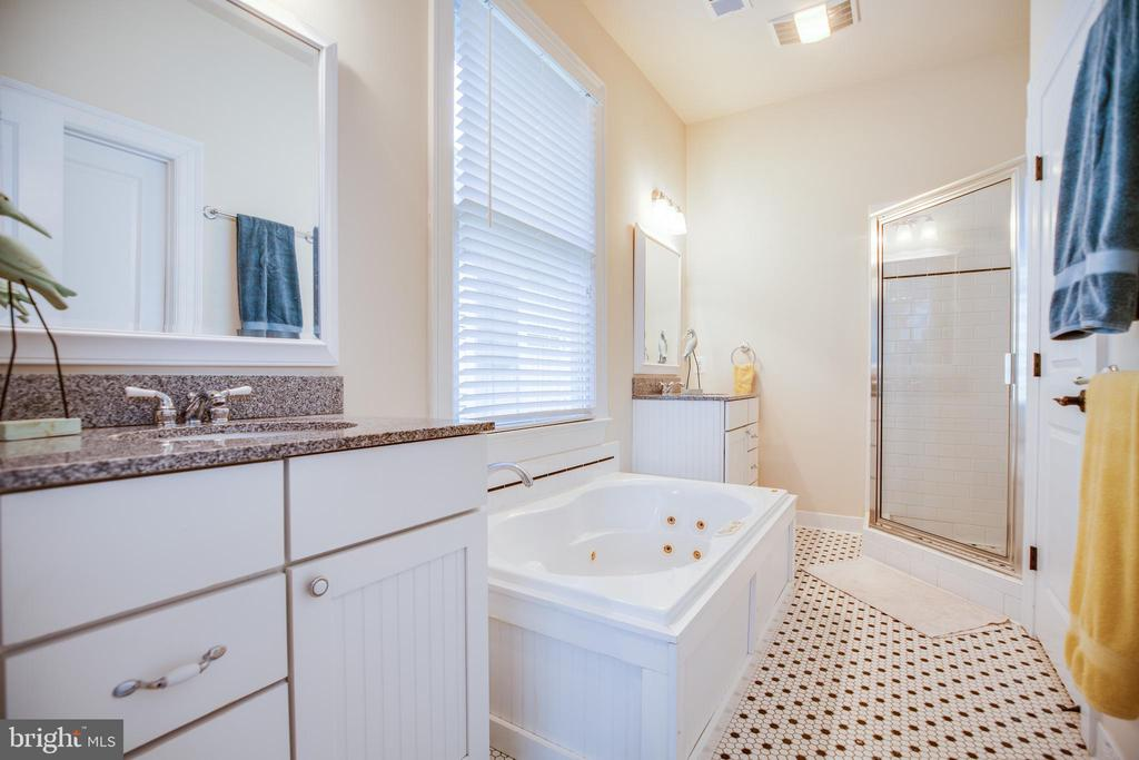 Master bath with separate tub and shower - 601 FAUQUIER ST, FREDERICKSBURG