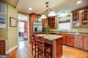 Kitchen with Breakfast bar & Wine fridge! - 601 FAUQUIER ST, FREDERICKSBURG