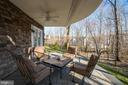 Patio with ceiling fan - 12472 SOUTHINGTON DR, WOODBRIDGE