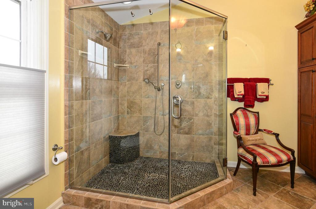 Master bathroom with oversized shower - 43535 POSTRAIL SQ, ASHBURN