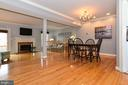 Open concept dining and living area. - 43535 POSTRAIL SQ, ASHBURN