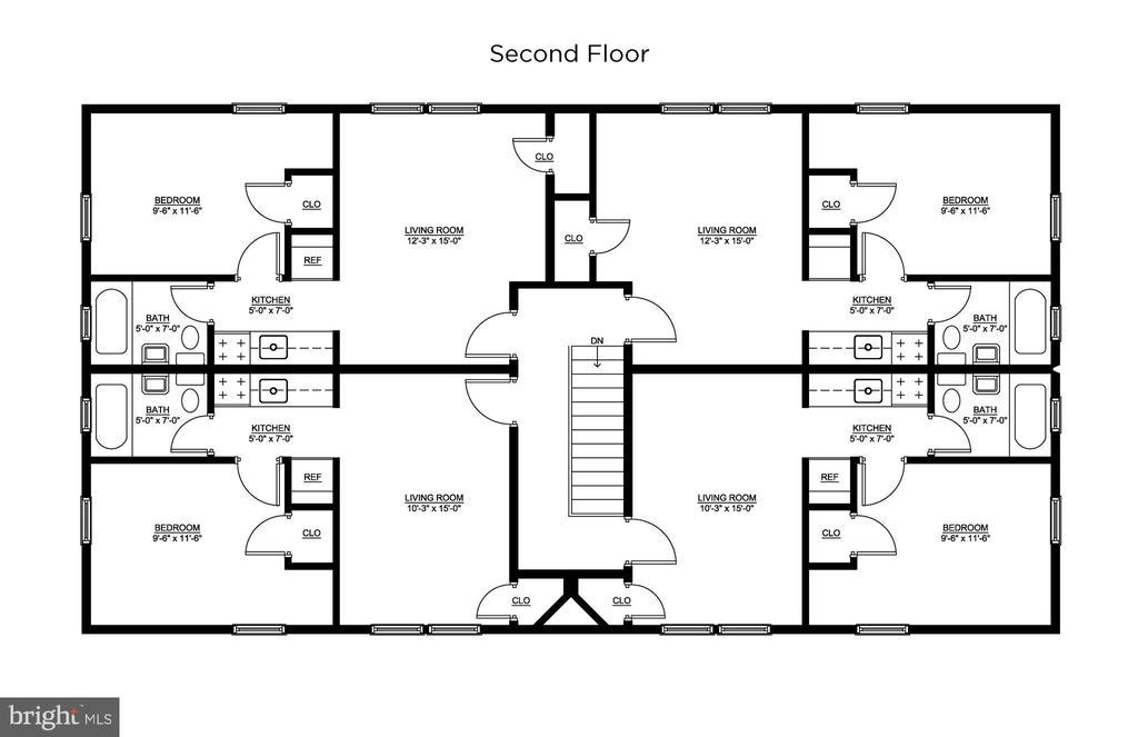 Second Floor Layout - 93 HAWAII AVE NE, WASHINGTON