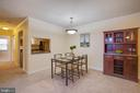 Large dining room - 18318 STREAMSIDE DR #203, GAITHERSBURG