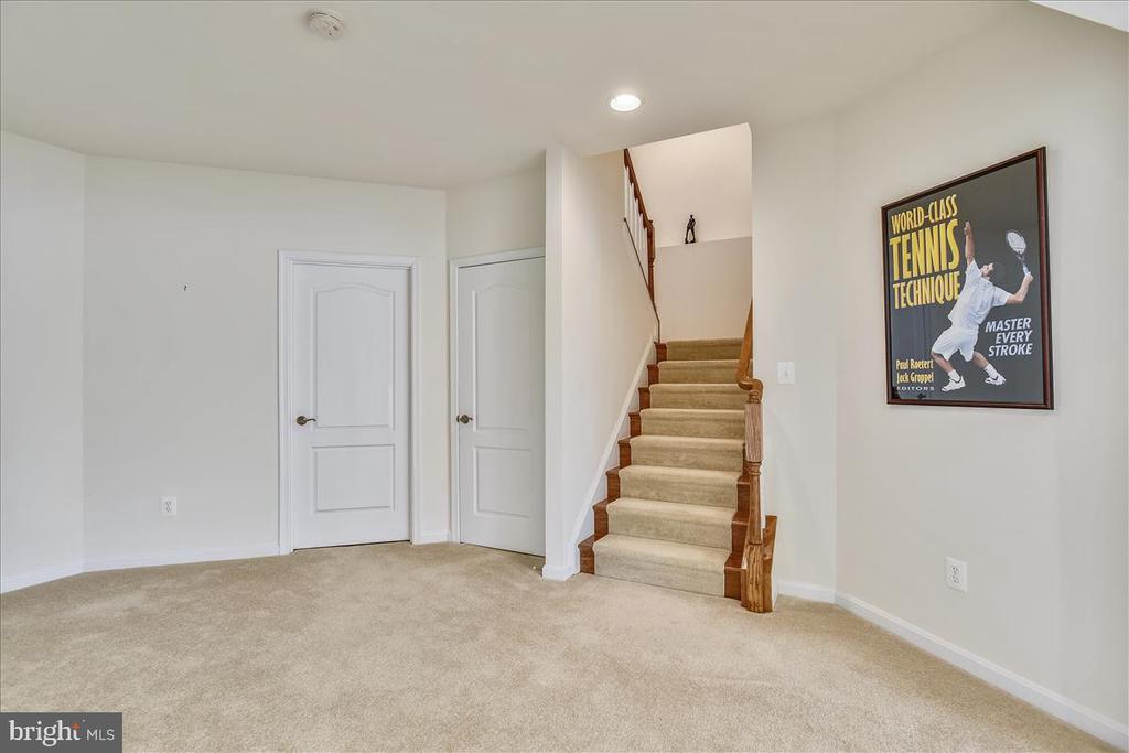 Lower Level Stairs - 21568 BURNT HICKORY CT, BROADLANDS