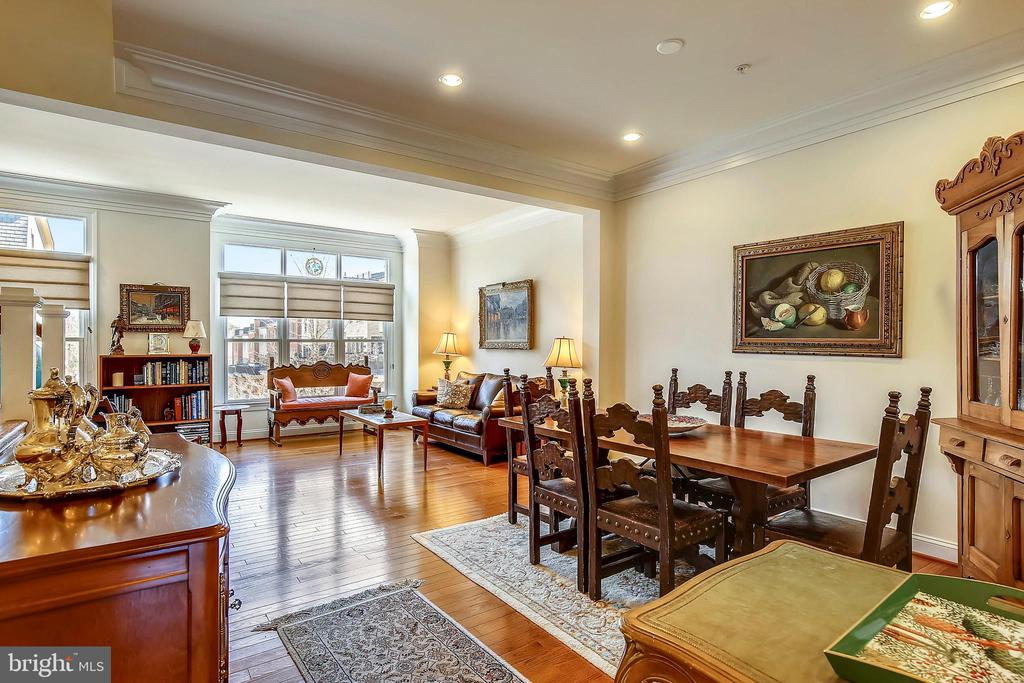 Dining Area and Living Room views - 10884 SYMPHONY PARK DR, NORTH BETHESDA