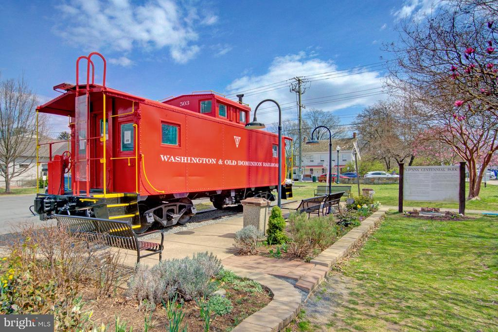 The iconic Vienna caboose on the W&OD trail - 601 PARK ST SE, VIENNA