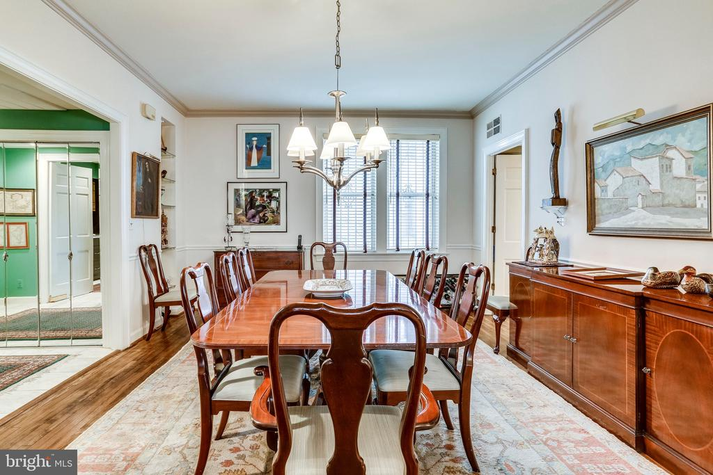 Separate dining area in main living space for 8+ - 2301 CONNECTICUT AVE NW #1B, WASHINGTON
