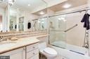 Master bathroom with plenty of storage/cabinetry - 2301 CONNECTICUT AVE NW #1B, WASHINGTON
