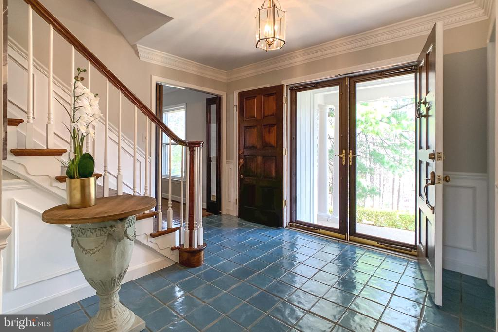 Foyer w/Double Entry Doors & Terracota Tile - 8619 GEORGETOWN PIKE, MCLEAN