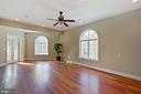 Main Floor office area with private balcony - 8033 WOODLAND HILLS LN, FAIRFAX STATION