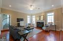 Family room with fire place - 8033 WOODLAND HILLS LN, FAIRFAX STATION