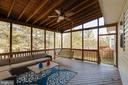 Great Covered Porch off Kitchen and Family Room - 1248 BARKSDALE DR NE, LEESBURG