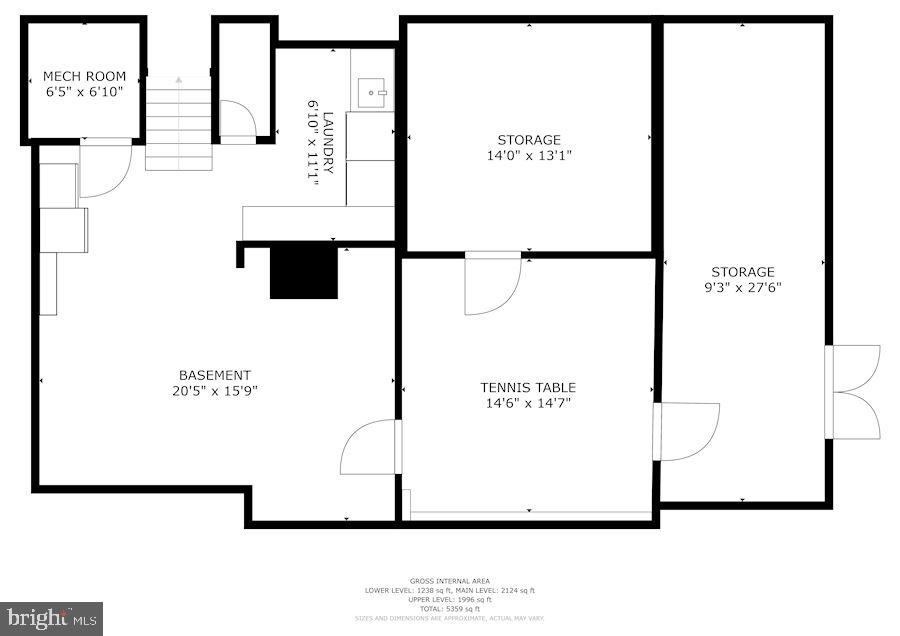 Lower Level Floorplan - 7116 FAIRFAX RD, BETHESDA
