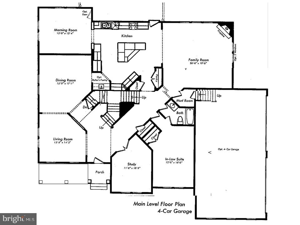 Main Level Floor Plan - 24436 PERMIAN CIR, ALDIE