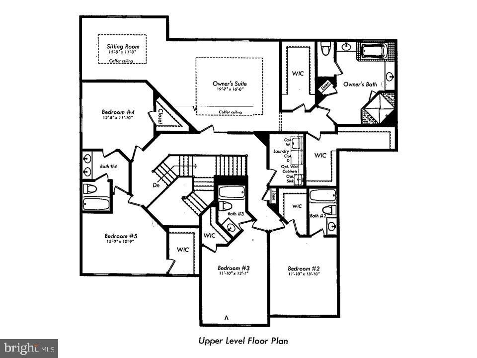 Upper Level Floor Plan - 24436 PERMIAN CIR, ALDIE