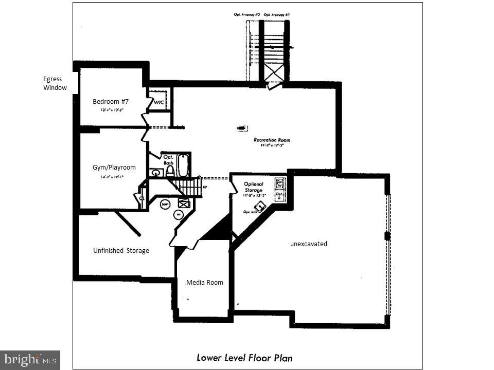 Basment Floor pland - 24436 PERMIAN CIR, ALDIE