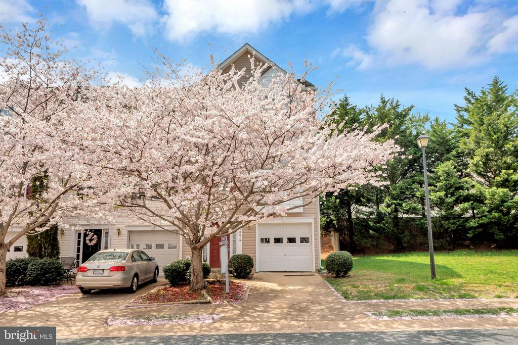 Frontview of end unit townhome - 10019 GANDER CT, FREDERICKSBURG