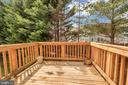 Deck with tree view - 10019 GANDER CT, FREDERICKSBURG