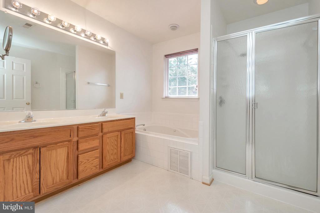 Master bath, jetted soaking tub, and shower - 10019 GANDER CT, FREDERICKSBURG