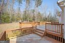 2 level decking - 7407 BARRISTER CT, SPOTSYLVANIA