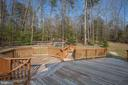 Octagonal portion of deck - 7407 BARRISTER CT, SPOTSYLVANIA