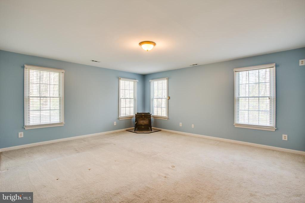 Lots of windows in Master bedroom - 7407 BARRISTER CT, SPOTSYLVANIA