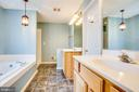 Ceramic flooring in Master Bath - 7407 BARRISTER CT, SPOTSYLVANIA