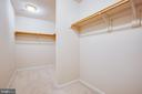 Master bedroom walk-in closet - 7407 BARRISTER CT, SPOTSYLVANIA