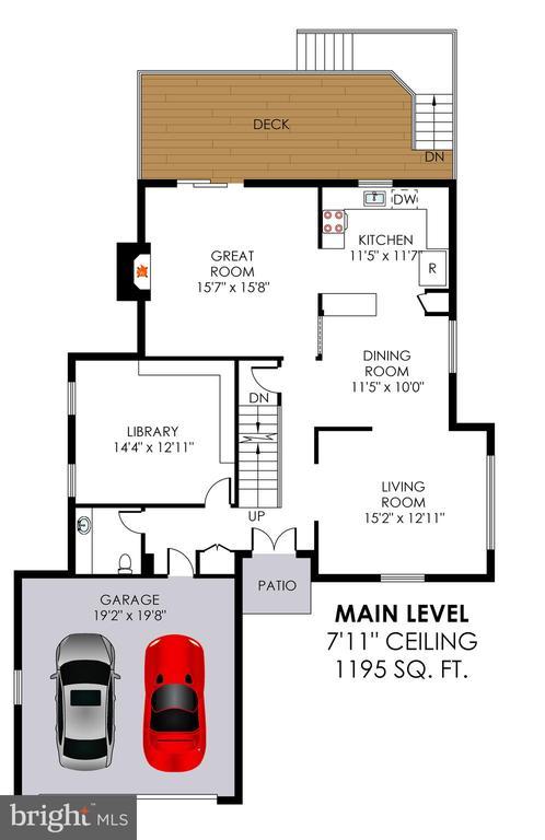 Main level floorplan - 6109 GLEN OAKS CT, SPRINGFIELD