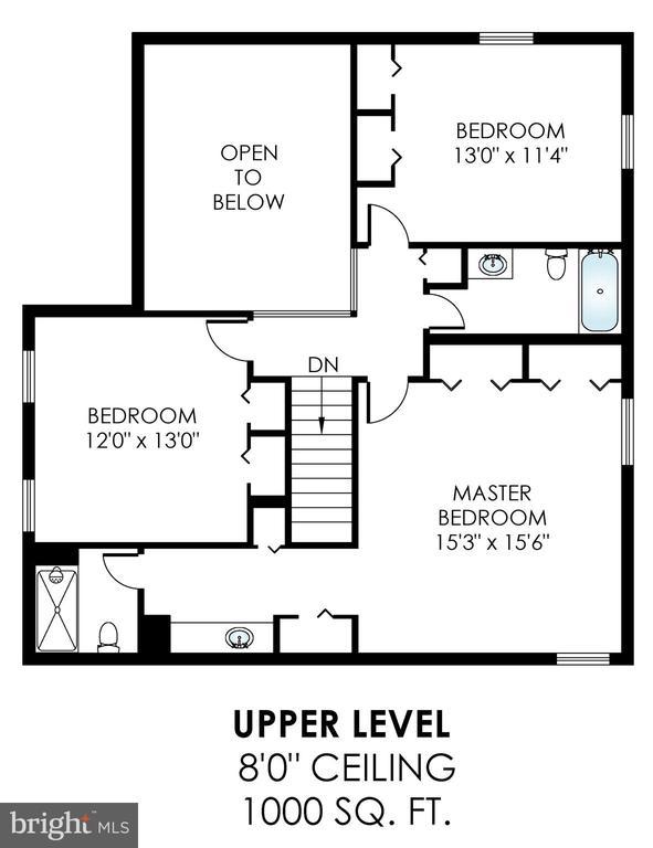 Upper Level Floorplan - 6109 GLEN OAKS CT, SPRINGFIELD