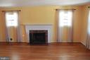 Large Living Room - wood burning fireplace !! - 9005 CHERRYTREE DR, ALEXANDRIA