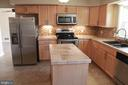 New kitchen with large island - 9005 CHERRYTREE DR, ALEXANDRIA
