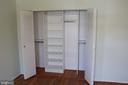 MBR closet organizer - 9005 CHERRYTREE DR, ALEXANDRIA