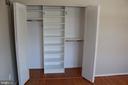 BE closet organizer - 9005 CHERRYTREE DR, ALEXANDRIA