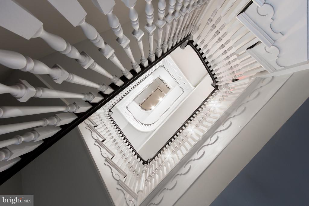 Restored historic stairway (there is an elevator) - 1745 N ST NW #208, WASHINGTON