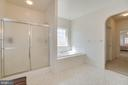 master  bath with view to closets, den & bedrm - 126 YORKTOWN BLVD, LOCUST GROVE