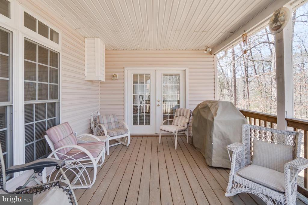 Outdoor entertaining  back deck - 126 YORKTOWN BLVD, LOCUST GROVE