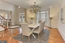 Formal Dining Room with Bay Window - 8260 ROSELAND DR, FAIRFAX STATION