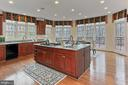 Large Kitchen Island with Sink and Stovetop - 8260 ROSELAND DR, FAIRFAX STATION