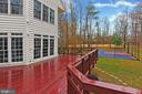 Wraparound Cedar Deck overlooking Basketball Court - 8260 ROSELAND DR, FAIRFAX STATION