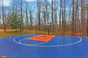Half-Size Basketball Court with Partial Fence - 8260 ROSELAND DR, FAIRFAX STATION