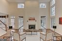 2-Story Family Room with Fireplace - 8260 ROSELAND DR, FAIRFAX STATION
