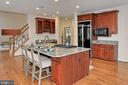 Large Kitchen Island with Seating - 8260 ROSELAND DR, FAIRFAX STATION