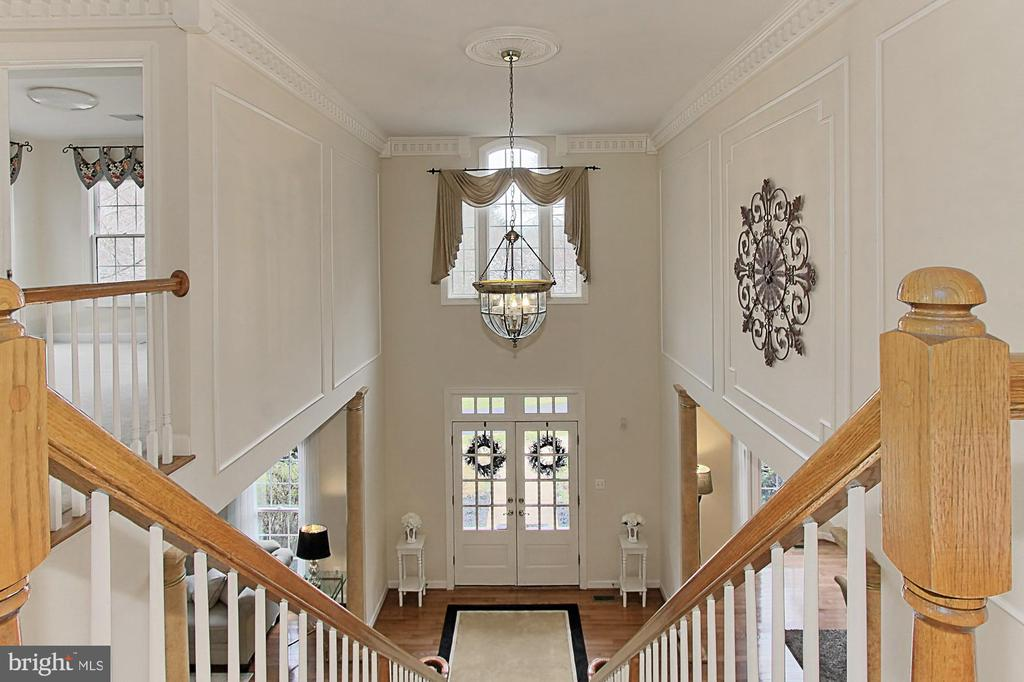 Overlooking Foyer from Second Story - 8260 ROSELAND DR, FAIRFAX STATION