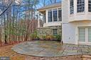 Stone Patio with entrance to Basement - 8260 ROSELAND DR, FAIRFAX STATION