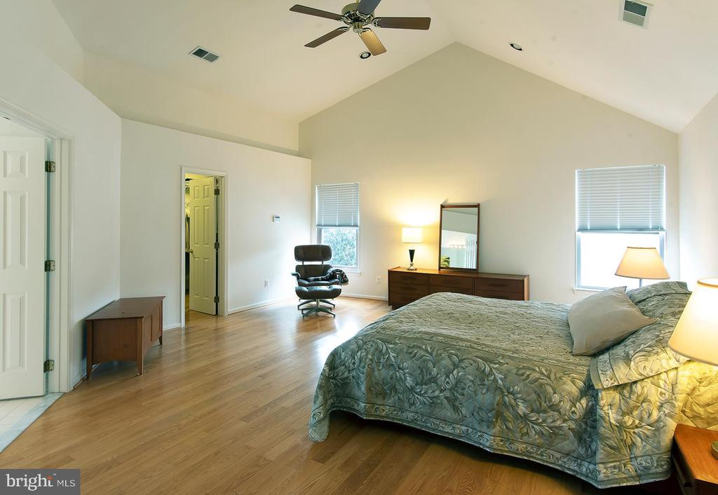 Master bedroom with vaulted ceilings - 5312 MAPLE VALLEY CT, CENTREVILLE
