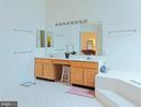 Master double sinks - 5312 MAPLE VALLEY CT, CENTREVILLE